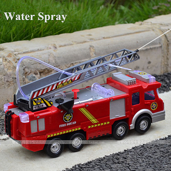 Electric fire toy water spray toy child model fire truck water spray(China (Mainland))