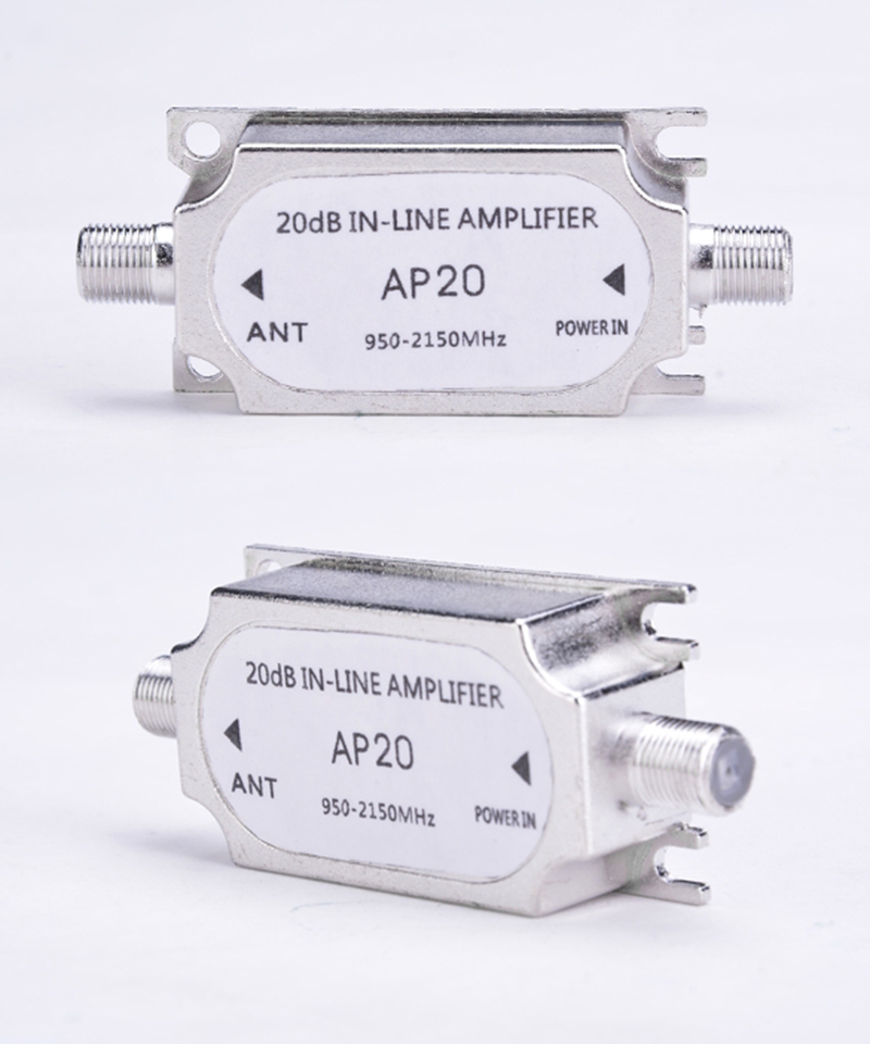 New Arrival Hot Direct Marketing Frequency 950~2150MHz Satellite Signal Booster 20dB Inline Amplifier Divider Wholesale(China (Mainland))