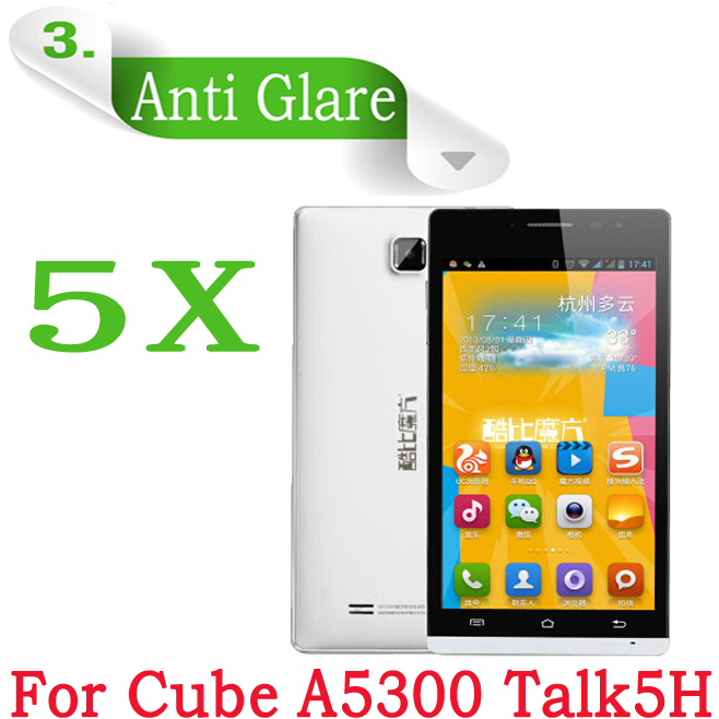 """For Cube A5300 Talk5H Screen Protector,5.5"""" Anti-glare Matte Protective Guard Film For Cube A5300 Talk 5H Quad Core Mobile Phone(China (Mainland))"""