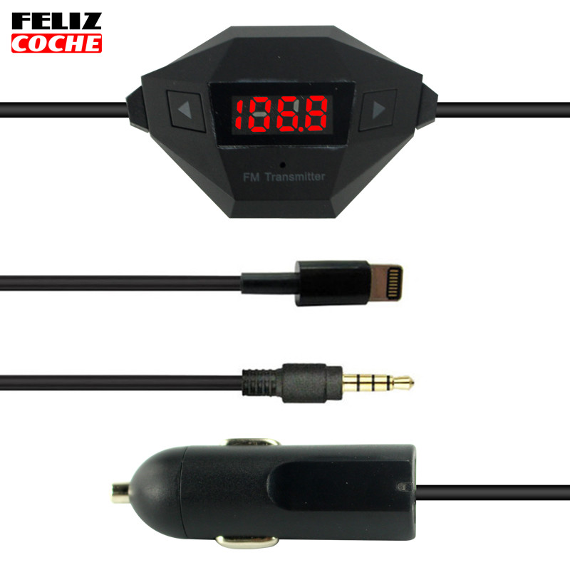 USB 3In1 Car FM Transmitters FM Audio Radio Transmitter Charger Hand-free for iPhone iPad iPod A1209(China (Mainland))