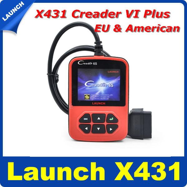 Original Launch X431 Creader VI Plus Creader 6S Code Reader EU/USA/Asian Version Update Online Launch X431 Creader6 Plus(Hong Kong)