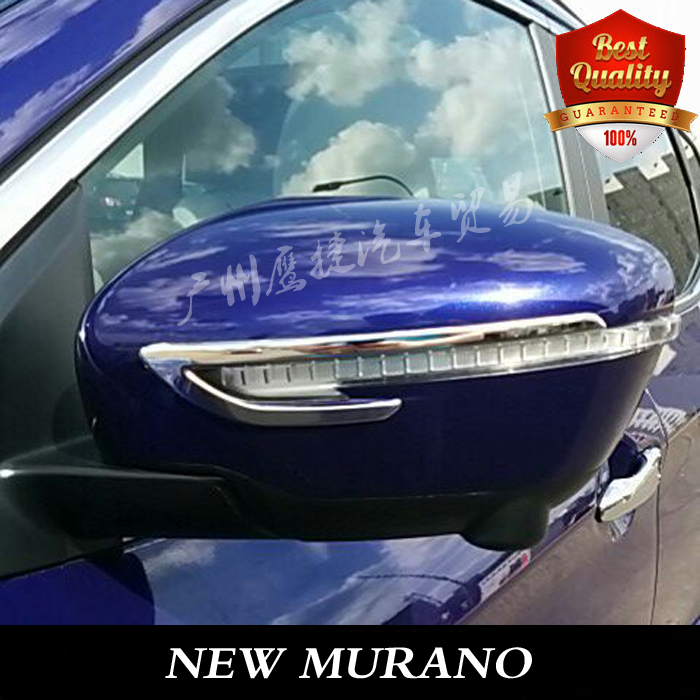 Free shipping 2015NEW MURANO stainless stell modified side mirror Trim cover Mirror trim DOOR MIRROR trim auto accessories 2pcs(China (Mainland))