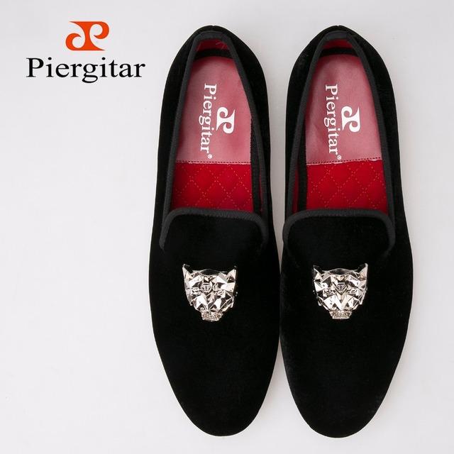 Ручной благородные люди мокасины мода бархатные туфли с серебряной тигр пряжка британский ...