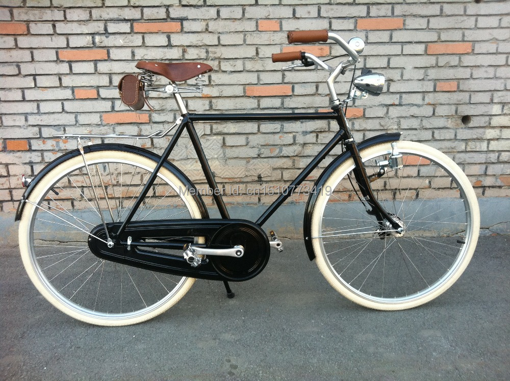 Vintage Bicycle Seats : Vintage classic real leather beach cruiser bike bicycle