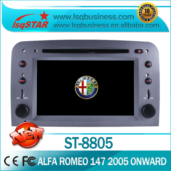 car dvd stereo For Fiat Alfa Romeo 147 2005 onwards With gps bluetooth radio PIP ipod