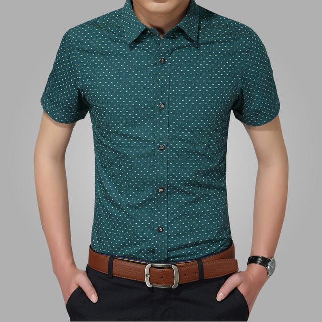 2016 новые люди рубашки бренда с отложным воротником slim-подходят мужские сорочка ...