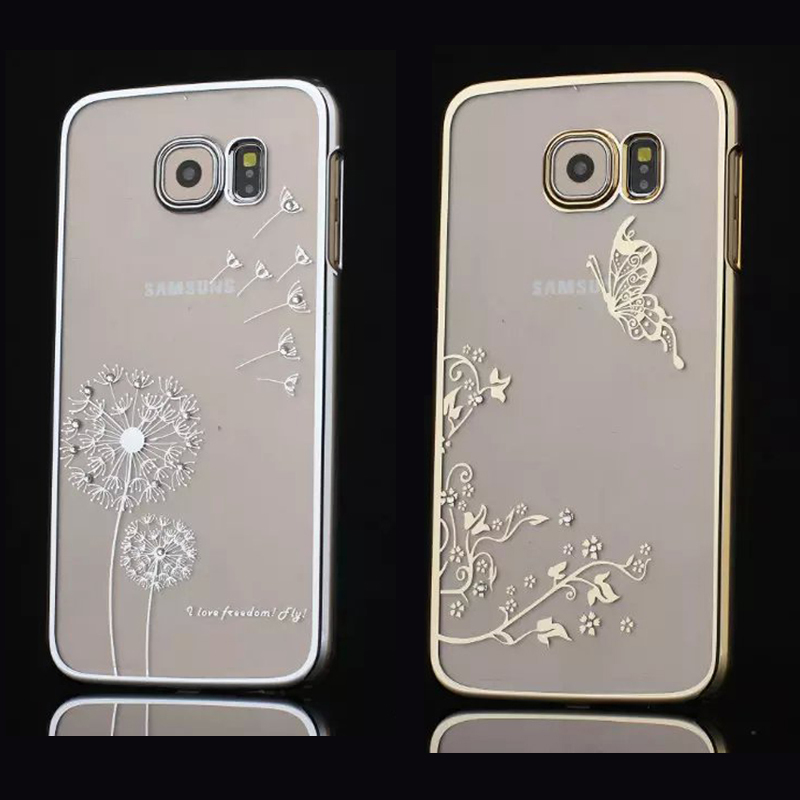 Ultra Slim Bling Crystal Case For Samsung Galaxy S6 Edge Plus S7 Edge Note 5 Cover Diamond Transparent Electroplate Back Covers(China (Mainland))
