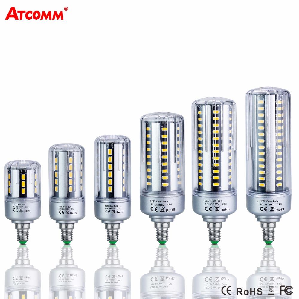 Ampoule LED E27 Corn Bulb 85-265V 5W 7W 9W 15W 20W 25W E14 LED Diode Lamp High Lumen Flicker SMD 5736 Spotlight bombillas