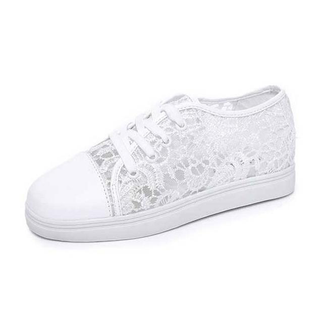 Женщины шнурка лета дышащий выдалбливают кружева-up плоские с ботинками 2016 новое ...