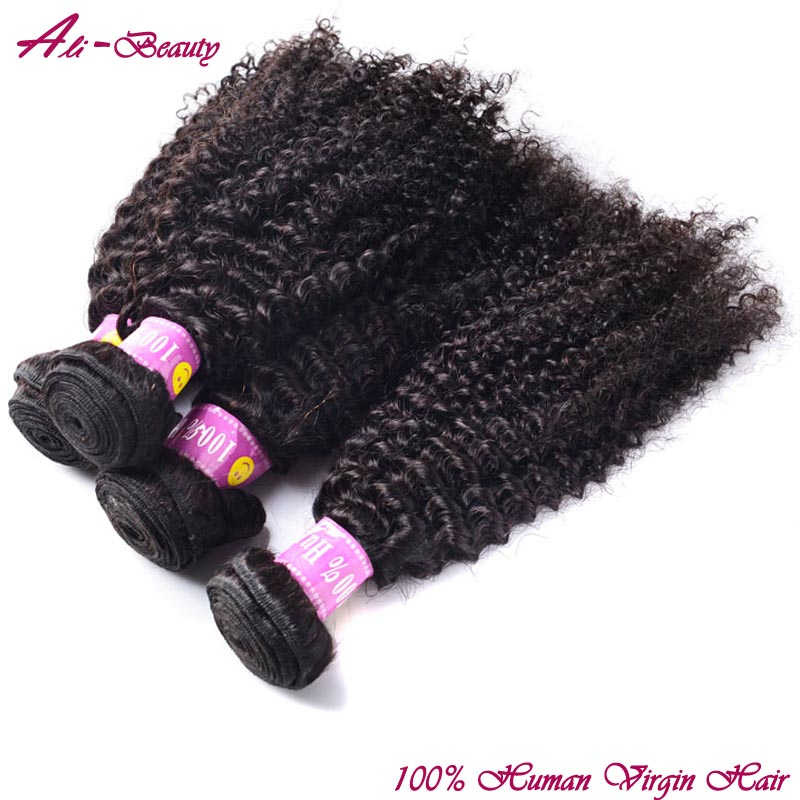 4pcs 10-26 inch mongolian kinky Curly virgin hair 100g natural black Afro Kinky Curly Hair queen hair products thick bundles<br><br>Aliexpress