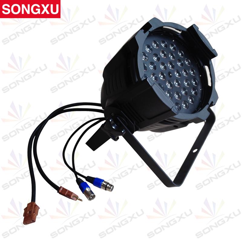 SONGXU High Quality constant current 36*3w RGB Led Par Cans Stage Par Light/SX-PL3603(China (Mainland))