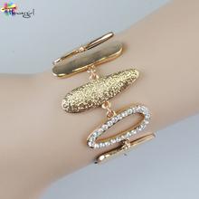 New Arrive Big Punk Chic Bracelet 2016 Women Gold Bracelet Fashion Jewelry For Ladies [3263-A74](China (Mainland))