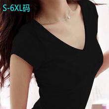 Summer Women Casual Deep V neck Solid Sleeveless women Shirts Women Tops t shirt  Plus Size  BTL017(China (Mainland))