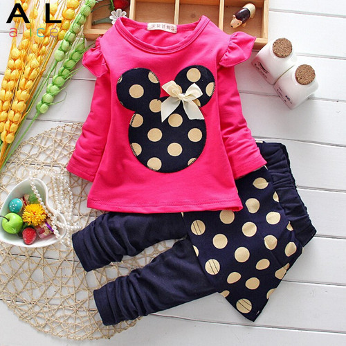 Гаджет  Baby girls clothing set children suit scarf + T shirt + pants three-piece kids children