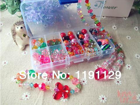 Handmade toys Beads children toys for DIY jewelery making utilities learning and education toys gifts for girls(China (Mainland))
