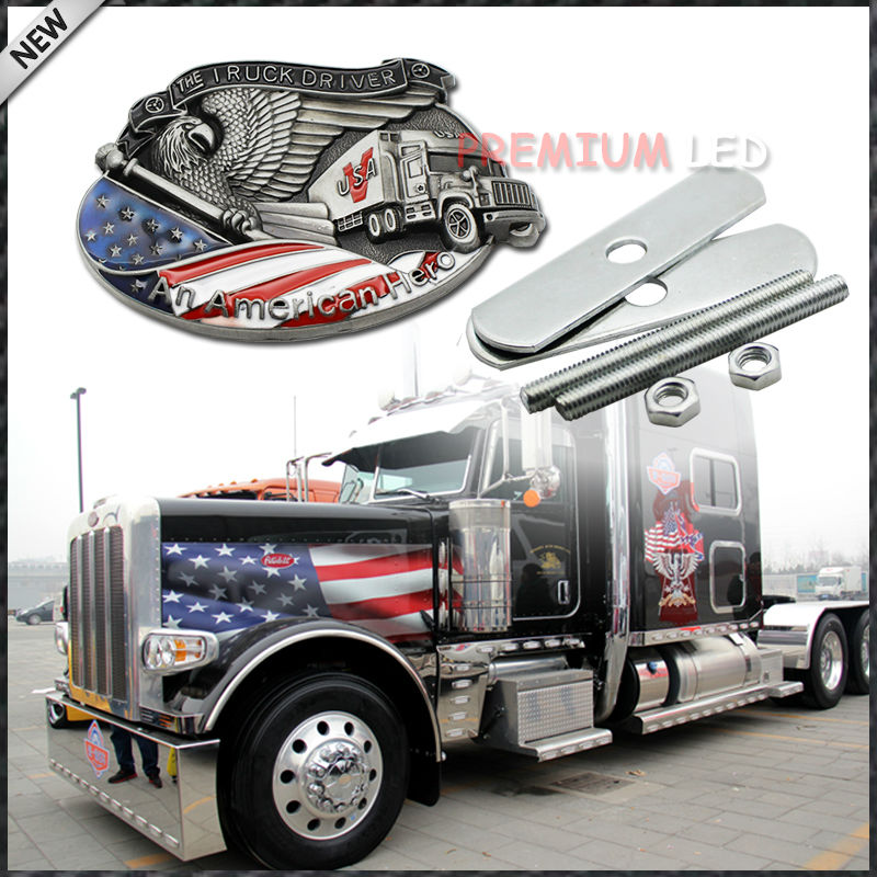 """(1) Patriot """"The Truck Driver, An American Hero"""" Decoration Emblem Badge For Truck Front Grille(China (Mainland))"""