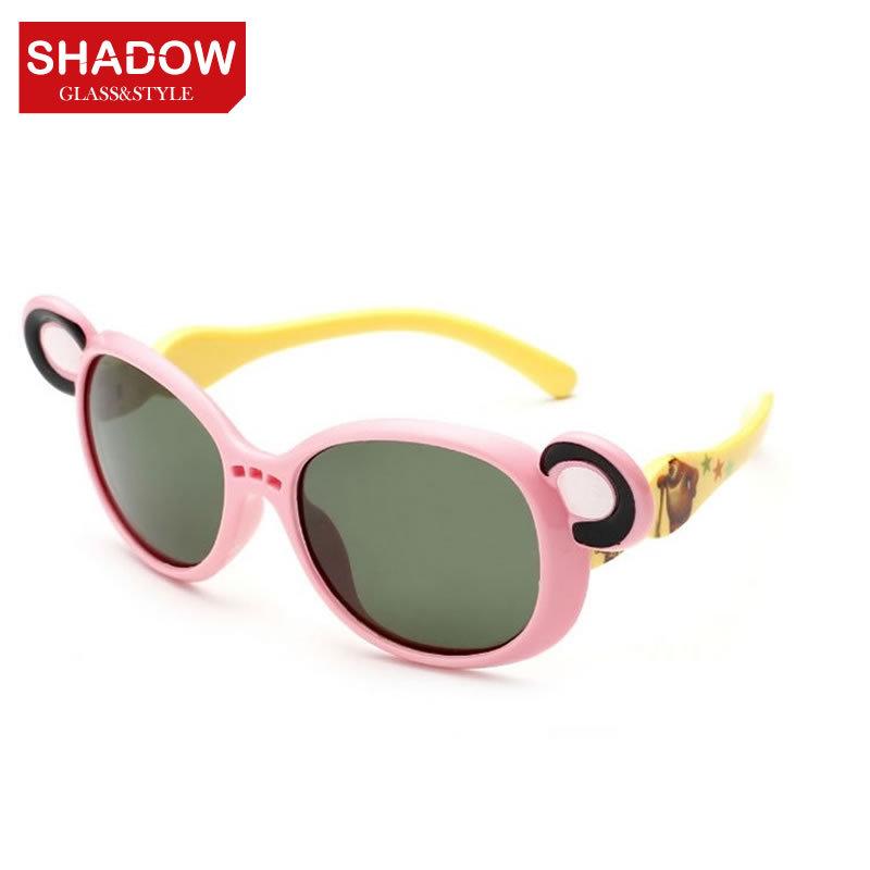 Children's fashion sunglasses polarized sunglasses yurt cool children boys and girls classic glasses glasses cute Bear(China (Mainland))