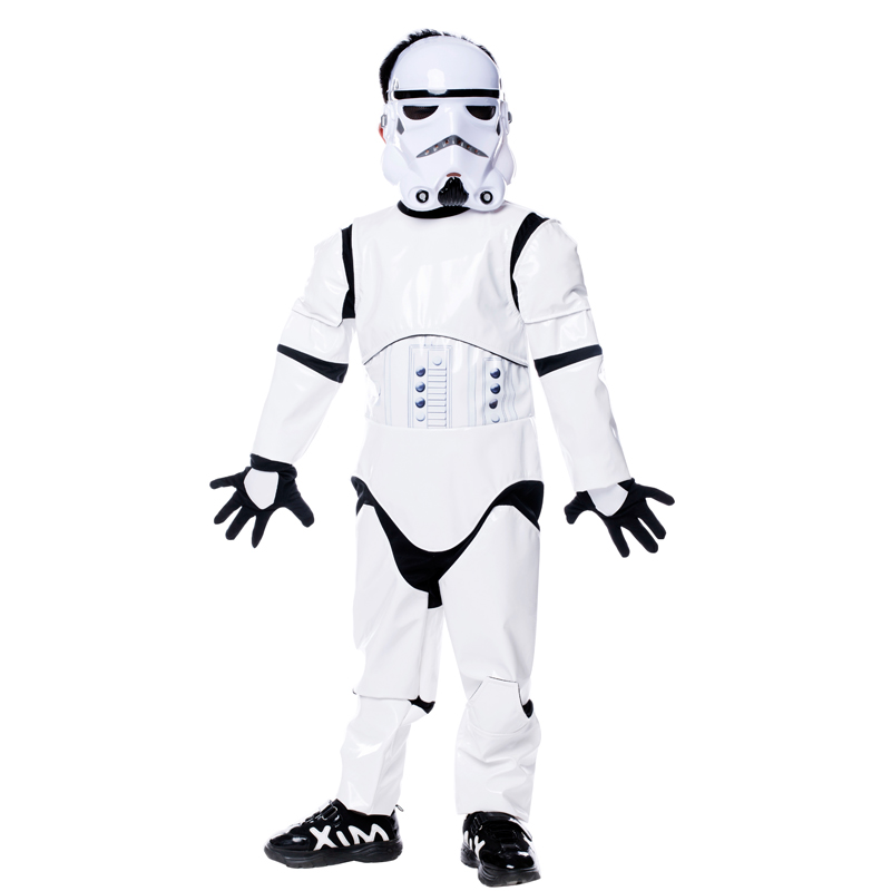 Shanghai story New Child Deluxe Star Wars The Force Awakens Storm Troopers Halloween Costume Kids Cosplay Party Fancy Dress(China (Mainland))