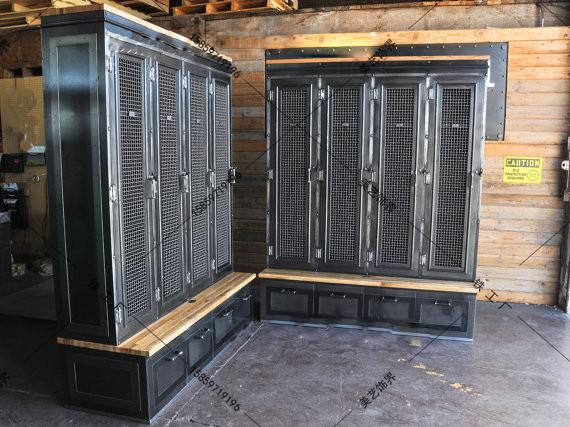 industrielle loft biblioth que tag re placard tag res vintage bois pour faire le vieux casiers. Black Bedroom Furniture Sets. Home Design Ideas