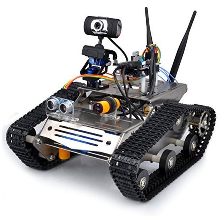 Wireless Wifi Robot Car Kit for Arduino / Hd Camera Ds Robot Smart Educational Robot Kit for Kids(China (Mainland))