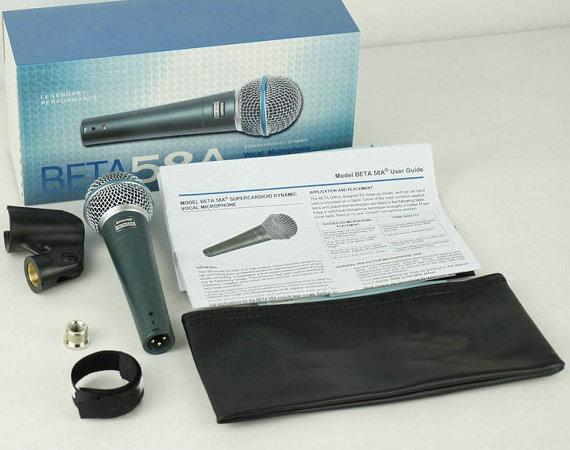 Top Quality Version Beta 58a Vocal Karaoke Handheld Dynamic Wired Microphone BETA58 Microfone Mike Beta 58 A Mic(China (Mainland))