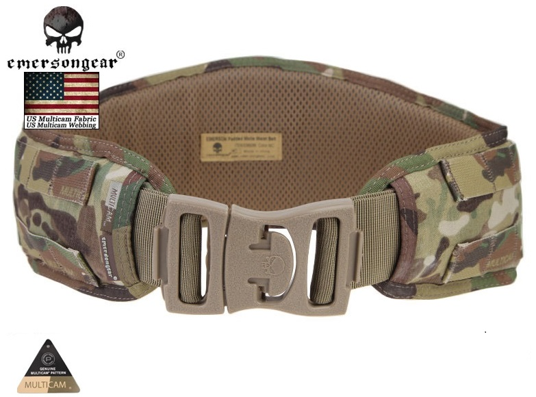Emersongear Men Airsoft Hunting Waist Belt Combat Military Army Equipment Emerson MOLLE Pads Multicam Black Arid 4 Color EM9086 - emersongear IDgear store