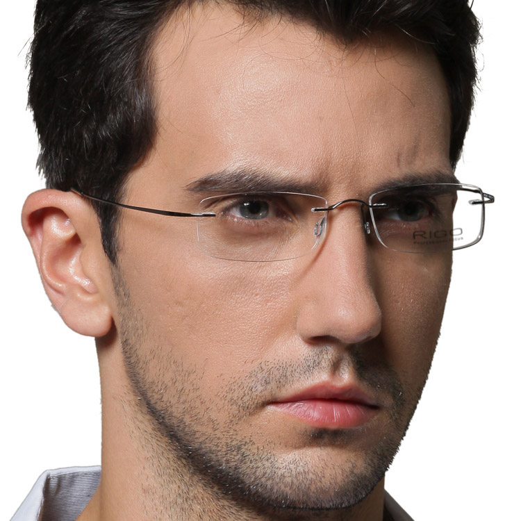 Rigo rimless eyeglasses frame ultra-light glasses myopia Men b titanium lovers design - Online Store 635416 store