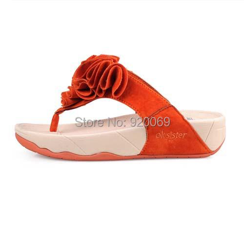 Free Shipping Women Sandals 2015 Flowers Wedges Summer Sandals For Women platform Beach Flip Flops Platform Sandals Women Shoes(China (Mainland))