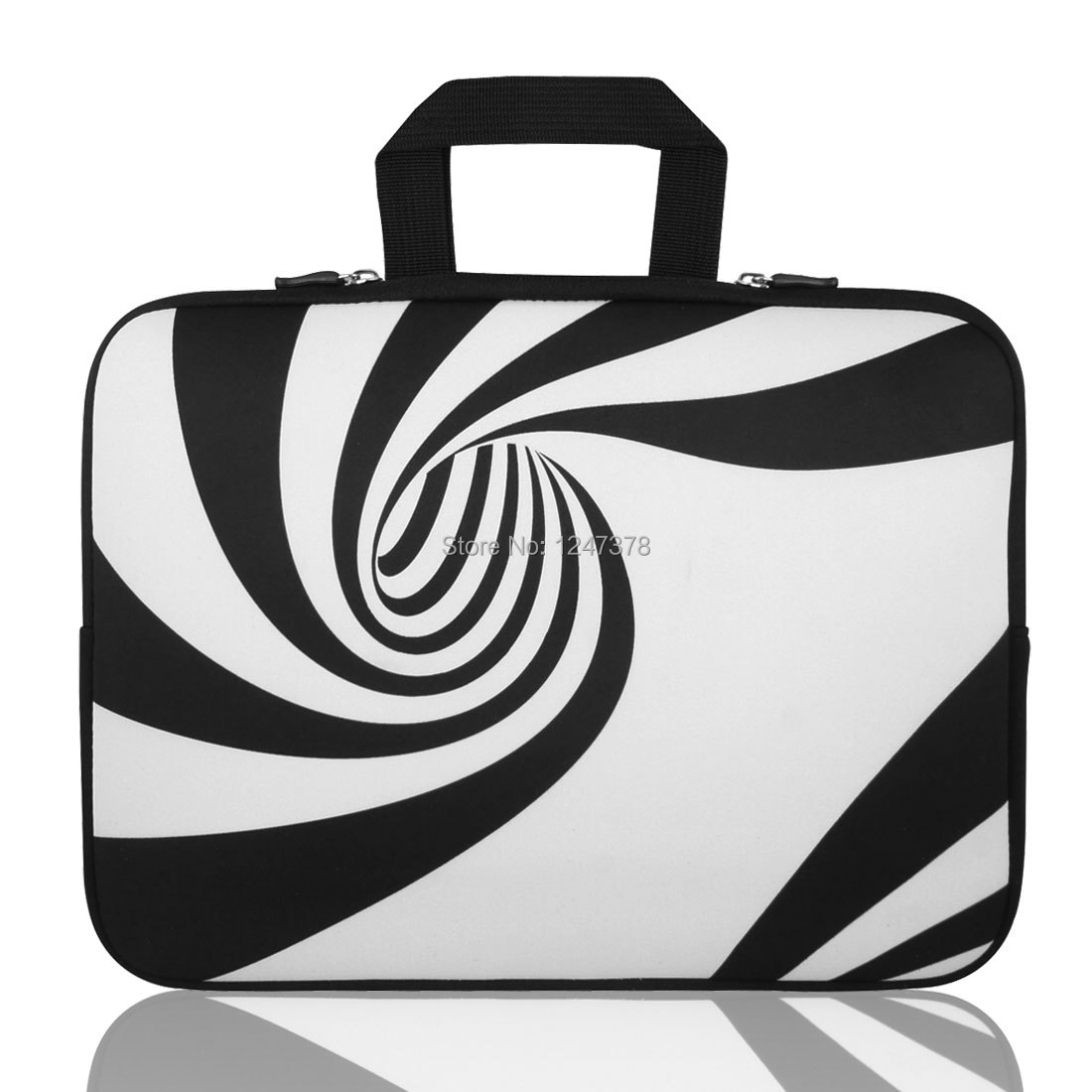 "15"" 15.4"" 15.6"" Swirl Neoprene Laptop Sleeve Handle Bag Pouch Discount 50 39cm x 29cm x 2cm (L*W*T)(China (Mainland))"