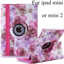 Fashion new arrival cute stand flip Flower Series Pastoral Style Printed leather case cover for apple iPad mini ipad mini2 mini3(China (Mainland))