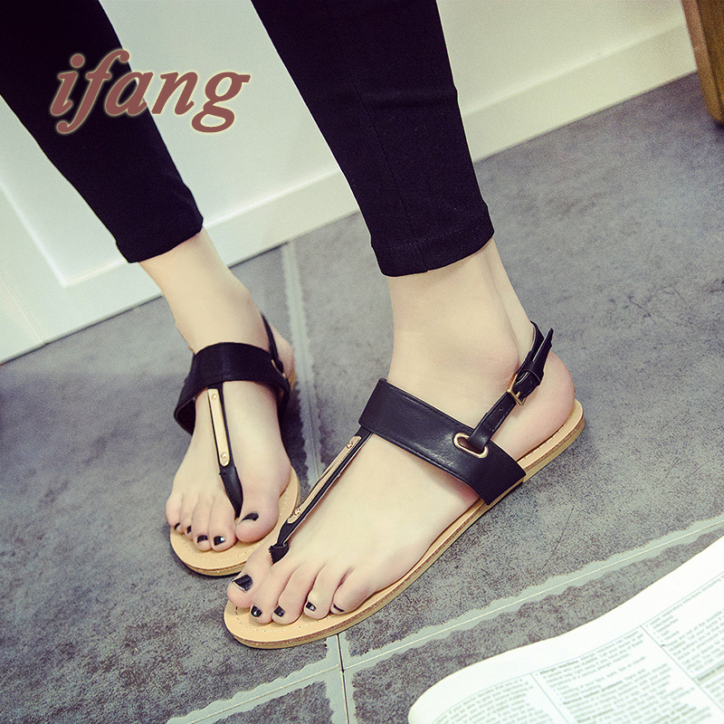 Summer Sandals Cow Split  Beach Sandals And Slippers Non-Slip Flat Sandals Of Casual Genuine Leather Flip Flops Fast Shipping