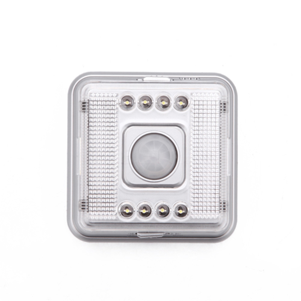 Compact Design New Style 8 LEDs Motion Sensor Light PIR Human Body Induction Sensor Lamp for Chest Stairs Hall Power by Battery(China (Mainland))