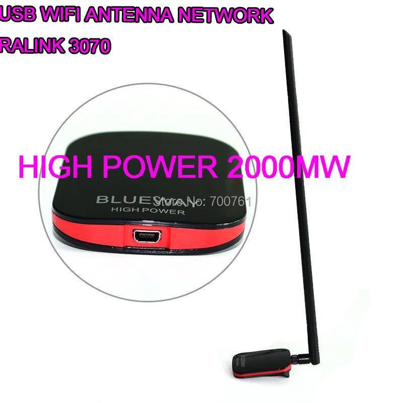 High power 2000MW 15dBi Ralink 3070 USB free wifi Antenna wifi wi fi network Lan Card adapter decoder BT N9500(China (Mainland))