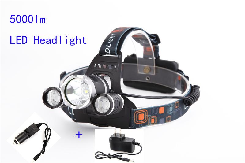 Гаджет  Boruit 5000 Lumens CREE XML T6 4 Modes LED Rechargeable Head Lamp Led Headlight Headlamp Hunting Flash Light Lamps Use 18650 None Свет и освещение
