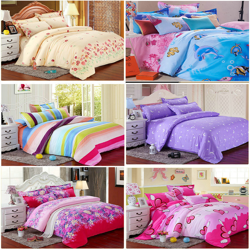 Promotion SALE Freeshipping REA Print 4pc Bedding Sets (1 duvet cover +1 bedsheet+2 pillowcase) home bedlinen quilt cover set(China (Mainland))