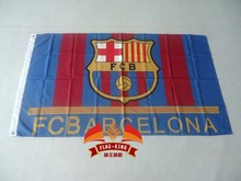 Buy FC Barcelona football flag, can custom print file,90X150CM size,100% polyester FC Barcelona football banner for $6.97 in AliExpress store