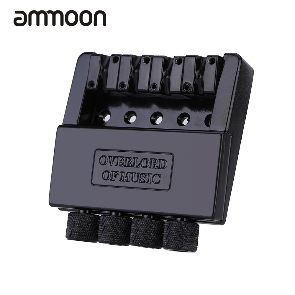 High Quility 1 Set Black 4 String Headless Bass Guitar Bridge System Guitar Parts Accessories Made of Iron and Zinc Alloy(China (Mainland))