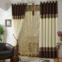 Cortina 2015 Time-limited Included Hot Home Window Decoration Quality Chinese Style Curtain Chenille Cloth Bedroom Curtains For(China (Mainland))
