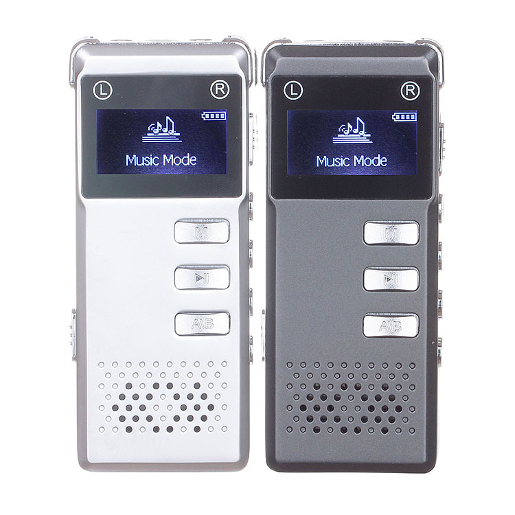 Portable 8GB Digital Audio Voice Recorder Dictaphone Stereo Recording with MP3 Player Support TF card -Gray Consumer Electronics(China (Mainland))