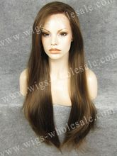 N22 Extra Long Straight Wig Natural Brown Wig Synthetic Lace Front Wig(China (Mainland))