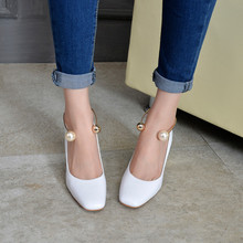Buy Hot OL Heels Lady Classics Women Thick Heel Fashion Sexy Stiletto High Heels Pumps Shoes Wedding Party Court Shoes zapatos mujer for $25.73 in AliExpress store