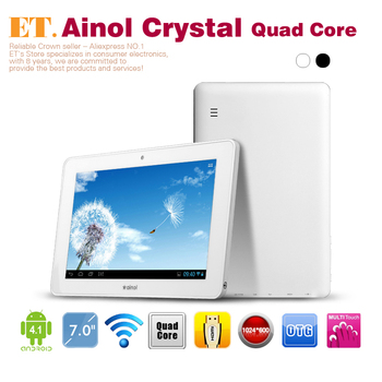 """Ainol NOVO 7 Crystal Quad core 7"""" android tablets 1.5Ghz 1GB RAM 8GB WIFI Webcam Leather case free gifts"""