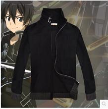New Sword Art Online GGO Kirito Anime Kazuto Kirigaya Cosplay Costume jacket coat thick cotton hoodie(China (Mainland))