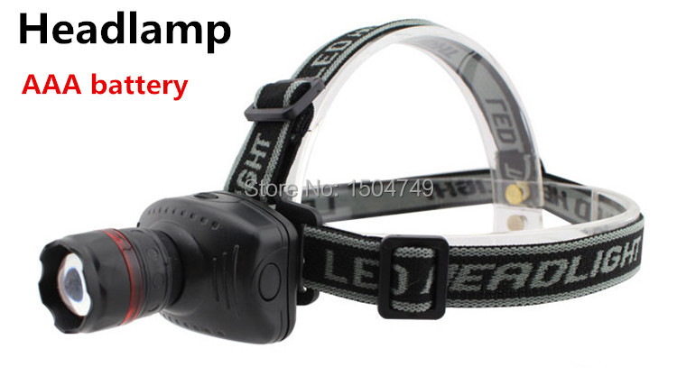 Promotion 90% off! Hot selling LED Headlamp Zoomable Head Torch Light head lamp headlight Black(China (Mainland))
