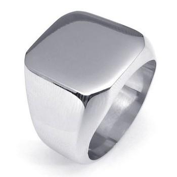 Мода мужской отполированный перстень кольцом нержавеющей стали 316L для мужчин мужская ...