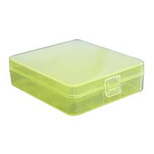 Battery Case Plastic Transparent White Color 18650 Battery Storage Box Case with Hook Holder Batteries Storage Box Case