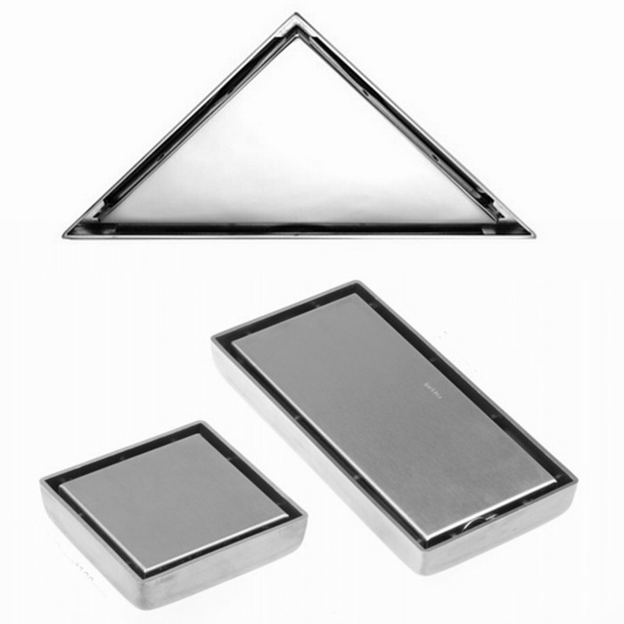 Гаджет  Free shipping 304 stainless steel Floor Drain square or rectangle or triangle Invisible anti-odor floor waste floor drain DR000 None Строительство и Недвижимость