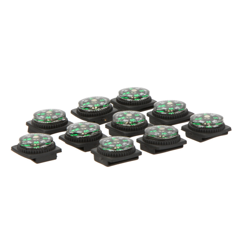 10PCS Mini Compass for Paracord Bracelet Outdoor Camping Hiking Travel Emergency Survival Tool(China (Mainland))