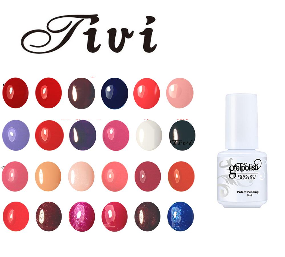 Tivi 5ml Nail Gel Long Lasting Gel Lacquers Colors DIY Nail Art Colorful Nail Gel Polish UV LED Lamp Curing Pick 1pcs(China (Mainland))