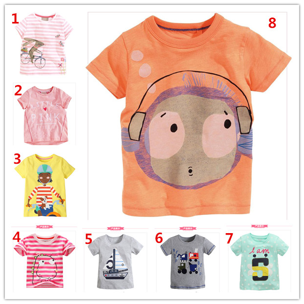 2016 Manufacturer new design cheap t shirt printing for summer plain child t shirt wholesale cotton kid t shirt (ulik-ST130)(China (Mainland))